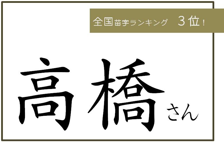 苗字 ③高橋