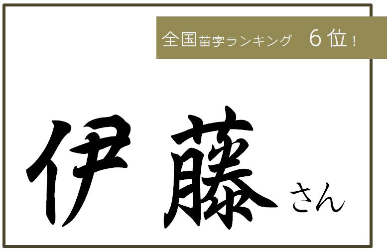 苗字 ⑥伊藤
